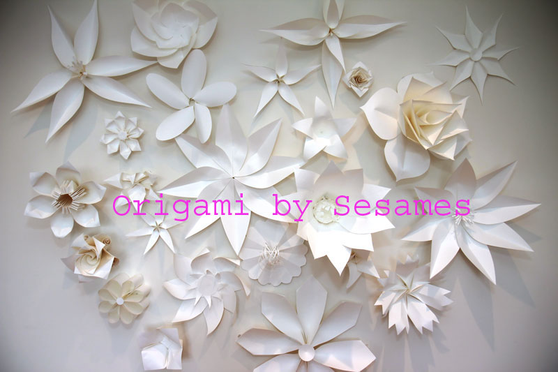 Sesames Origami Paper Flower Wall Giant Flowers Gifts