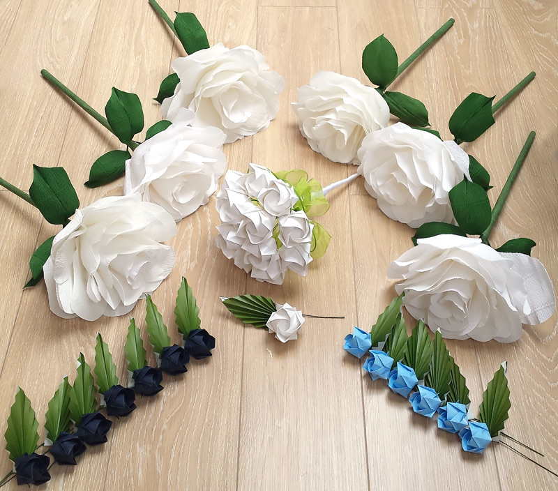Sesames london origami florist paper origami flowers giant crepe paper flower in white 25 12inch diameter by 24in length mightylinksfo